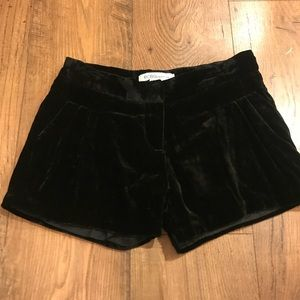 BCBG Black Velvet Dress Shorts